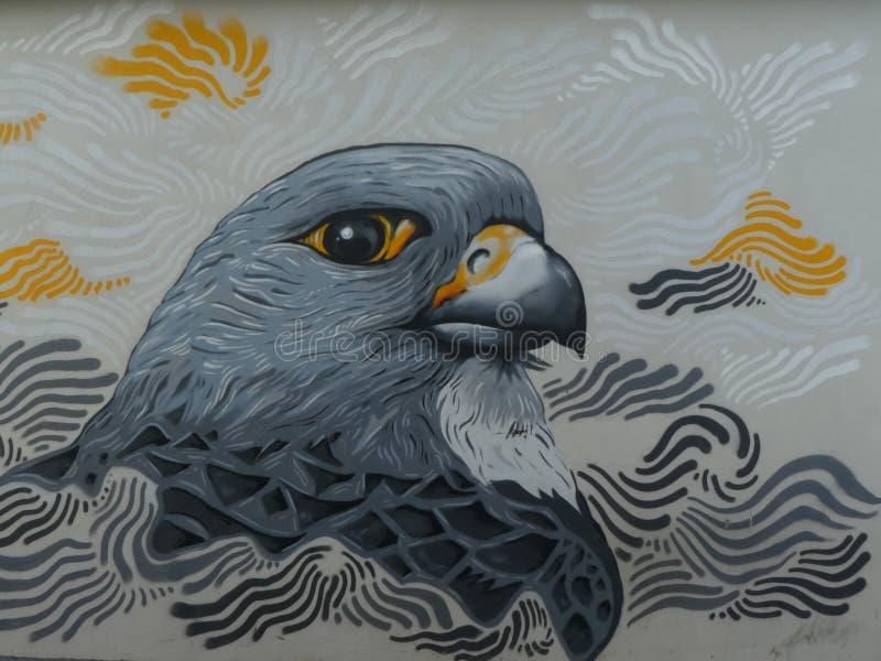 Art de rue dans la rue de Reykjavik en Islande images libres de droits