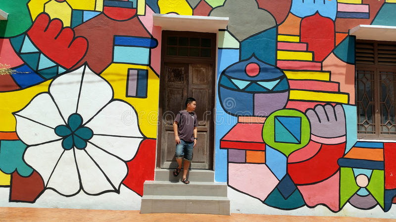Art de rue dans Melaka photographie stock