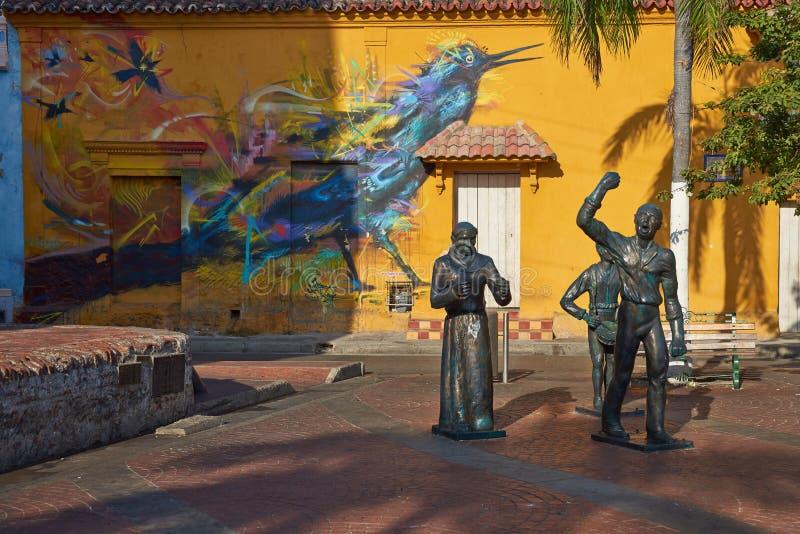Art de rue de Carthagène image stock
