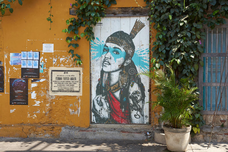 Art de rue de Carthagène images stock