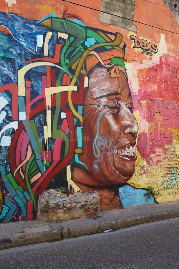 Art de rue de Carthagène photo stock