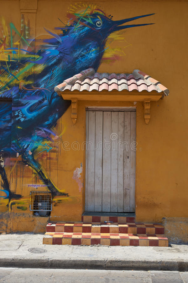 Art de rue de Carthagène image libre de droits