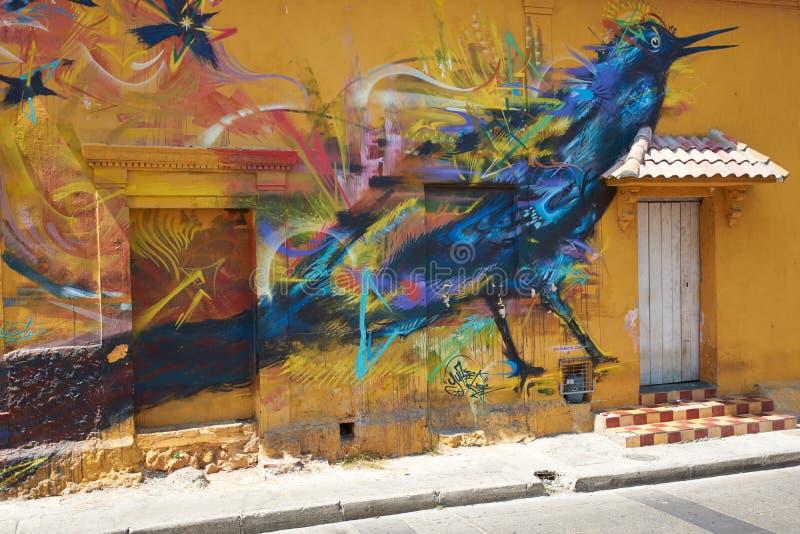 Art de rue de Carthagène photographie stock libre de droits