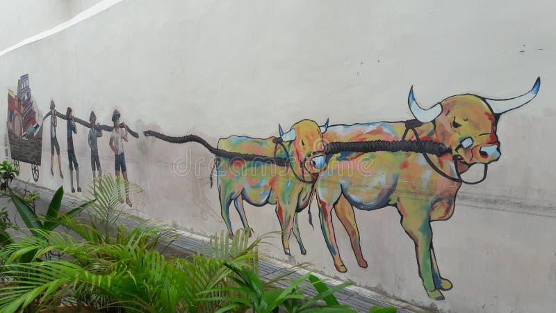 Art de rue de Singapour photo stock