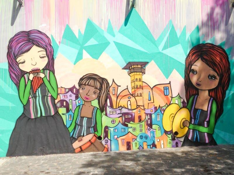 Art de rue de Valparaiso, Chili image libre de droits