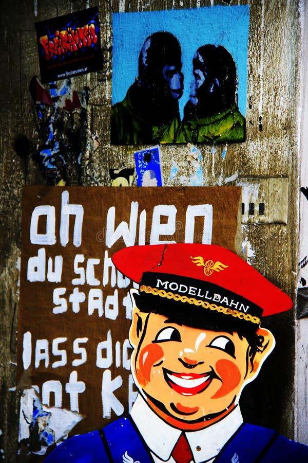 Art de rue de Vienne - grunge psychédélique image libre de droits