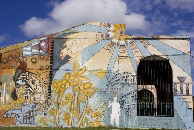 Art de rue en Santa Clara, Cuba photos stock