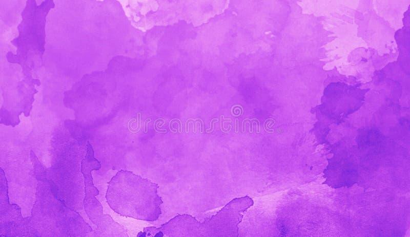 Art de texture d'abrégé sur violette d'aquarelle d'impression Bacground lumineux artistique illustration libre de droits
