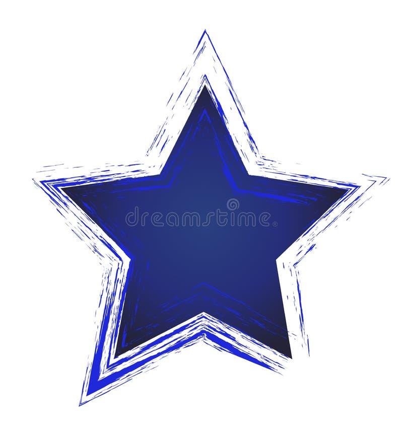 Art de vecteur d'icône d'étoile bleue illustration libre de droits