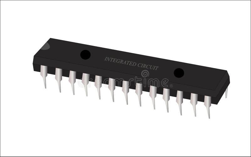 Art de vecteur de circuit intégré (IC) image stock