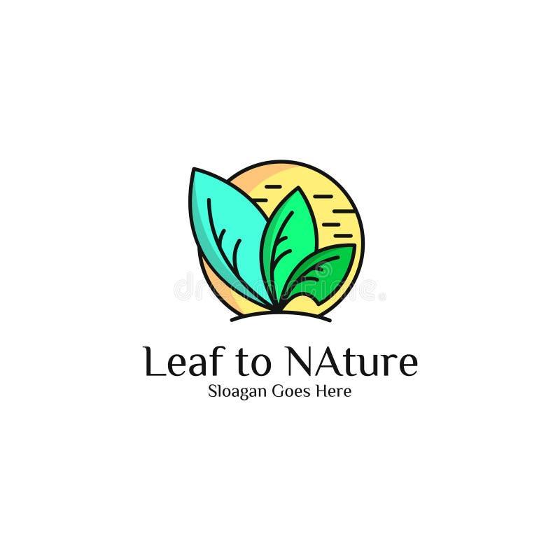 Art de vecteur de logo de feuille illustration libre de droits