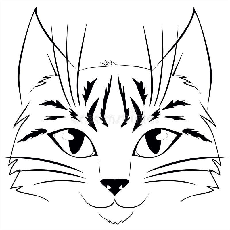Art de visage de chat illustration stock