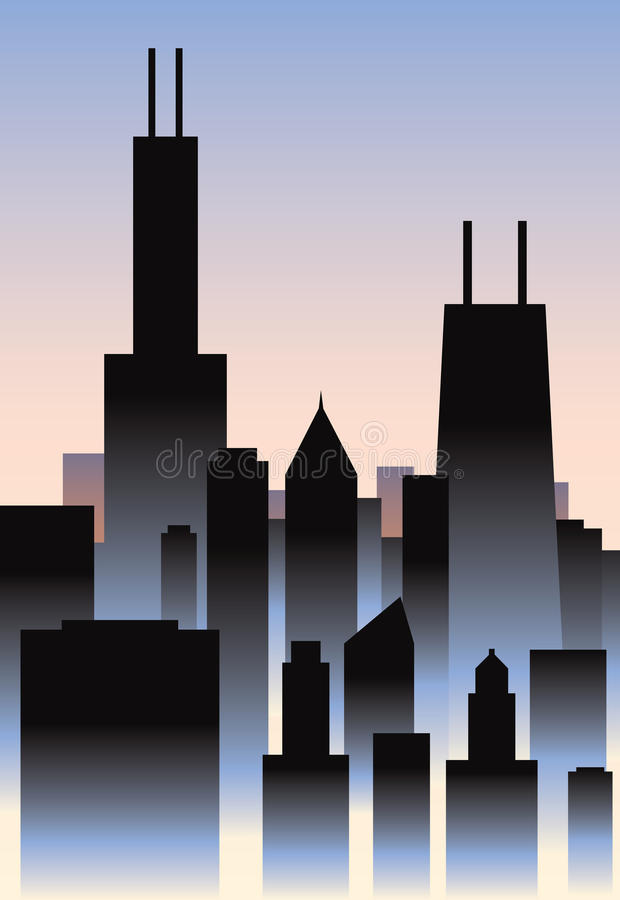 Art Deco Σικάγο ελεύθερη απεικόνιση δικαιώματος