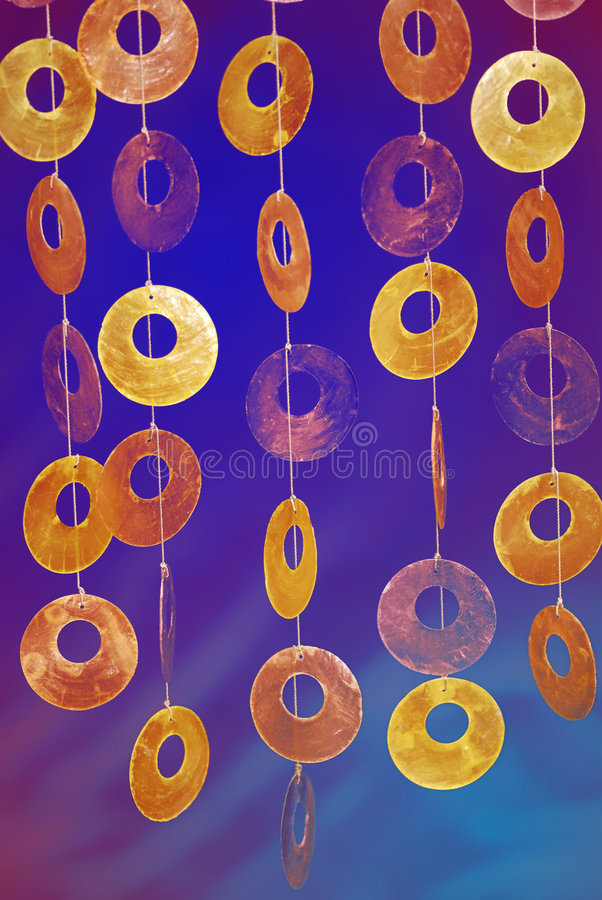 Art deco. Colourful art deco with round discs royalty free stock photography