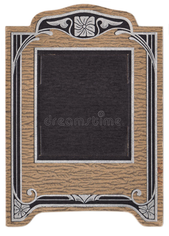 Art Deco Antique Picture Frame royalty free stock image