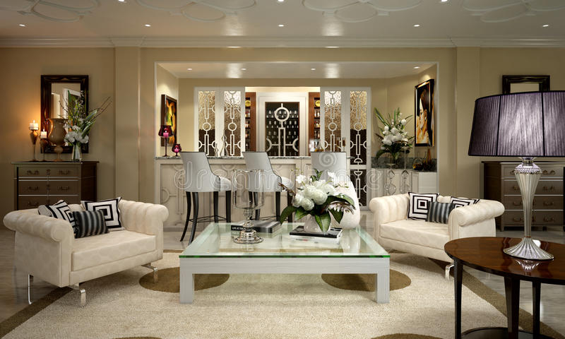 Download Art Deco Apartment stock illustration. Illustration of decorative - 49983442