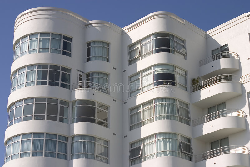 Art Deco Apartment Building #1 royalty free stock photography