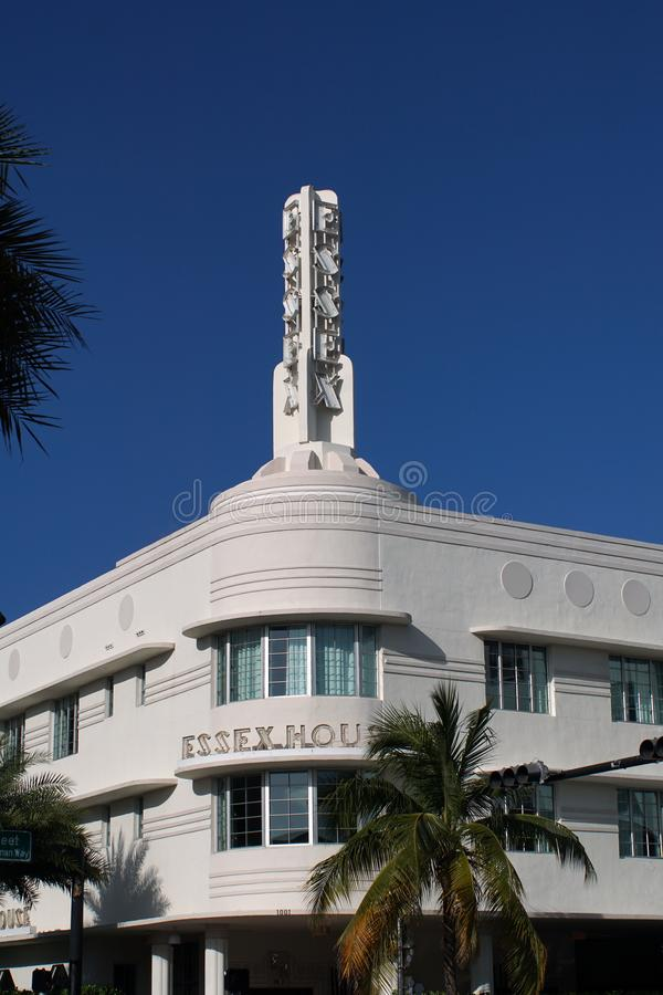 art deco architecture south beach miami stock image