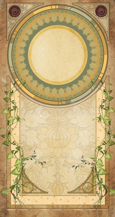 Art deco background stock illustration