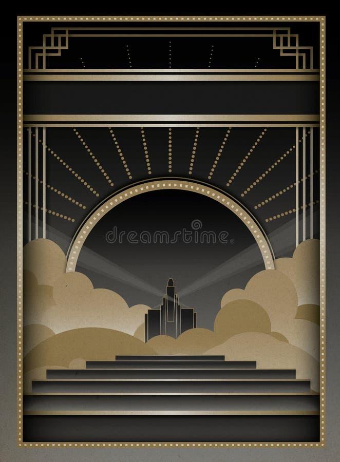 Art Deco Background e quadro ilustração do vetor