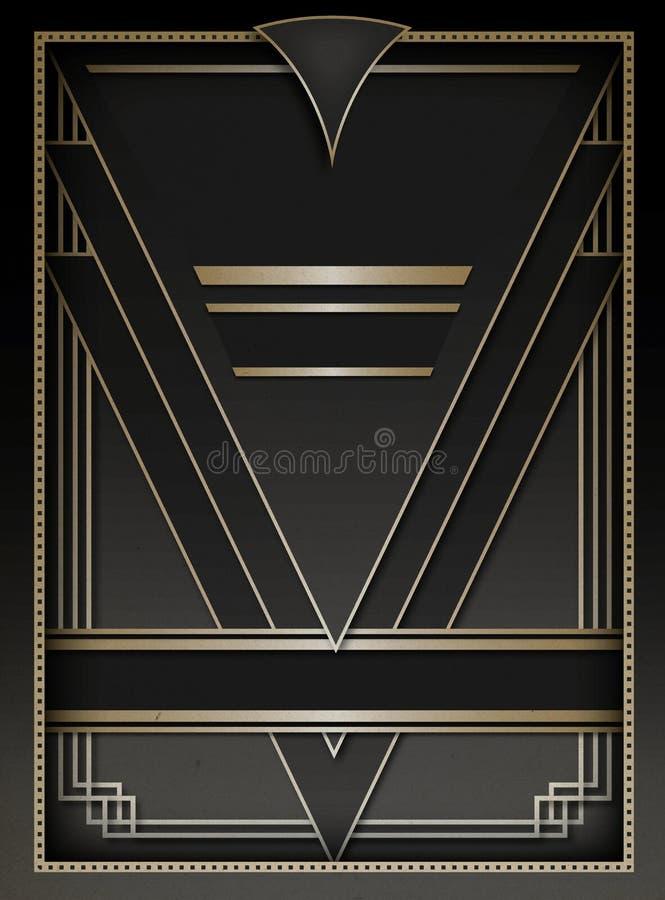 Art Deco Background e quadro ilustração royalty free
