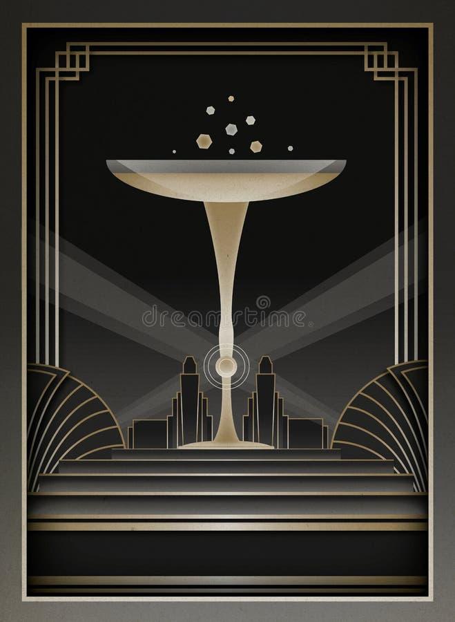 Art Deco Background e struttura royalty illustrazione gratis