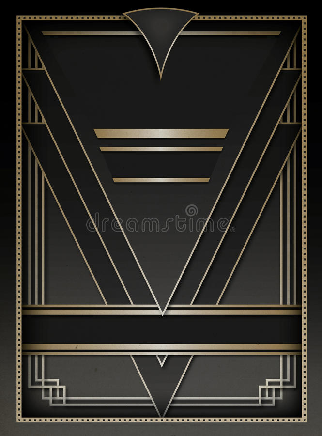 Art Deco Background and Frame stock photography