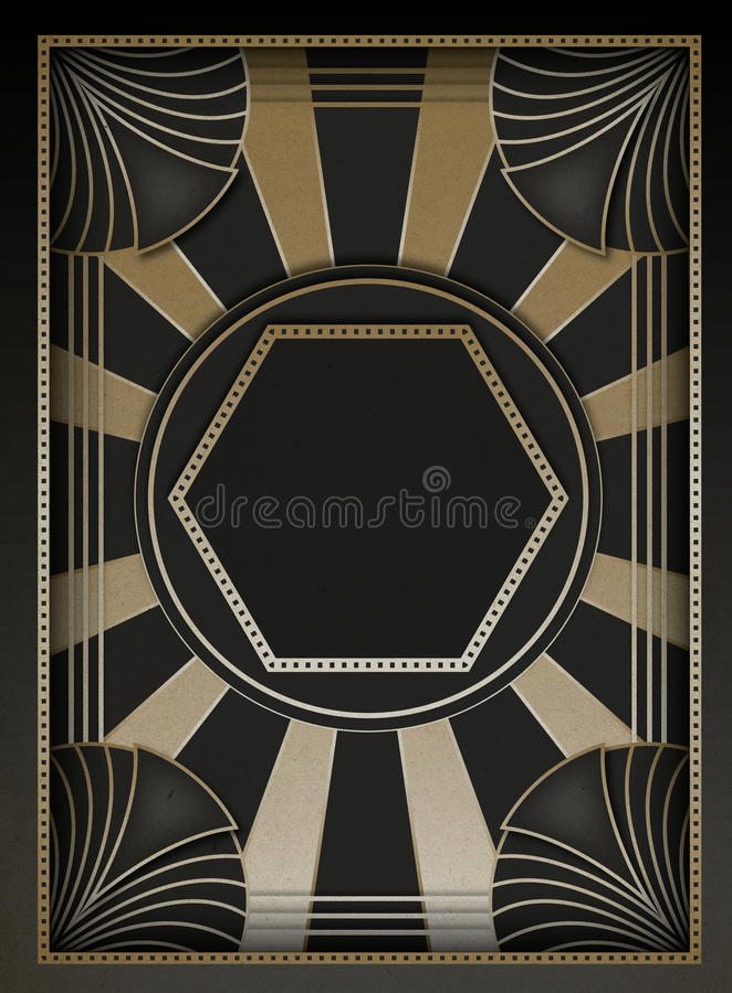 Art Deco Background och ram vektor illustrationer
