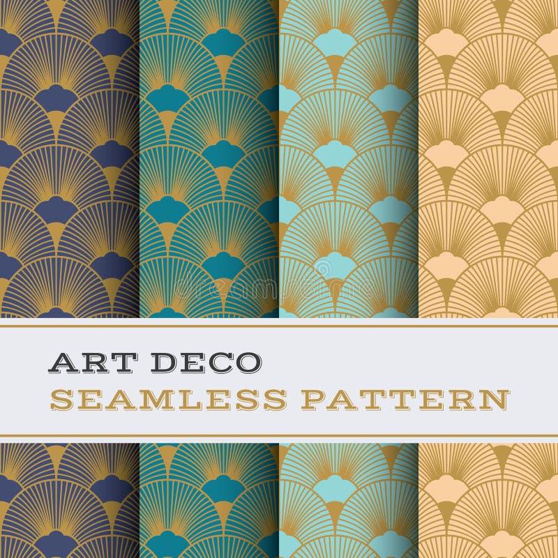 Art Deco bezszwowy wzór 15 royalty ilustracja