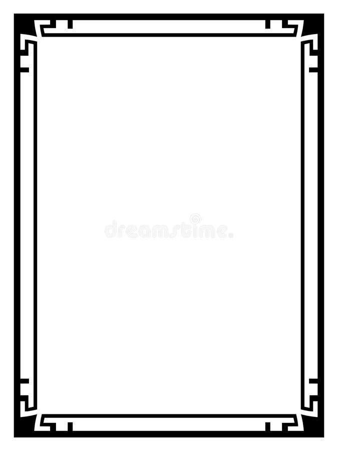 art deco black ornamental decorative frame stock vector rh dreamstime com art deco vectoriel art deco vectoriel