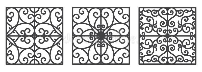Art deco bloemen naadloos behang stock illustratie