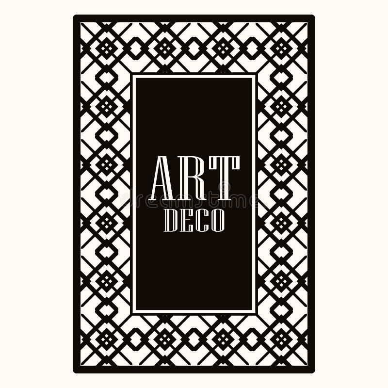 Art Deco border frame vector illustration