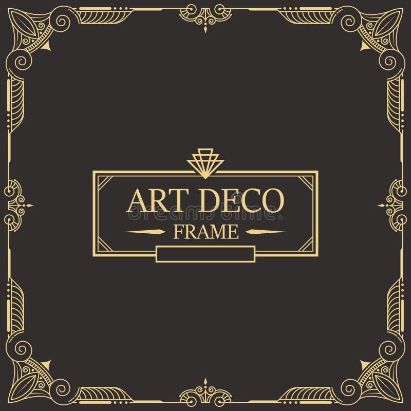 Art Deco Border und Spant 26 lizenzfreie abbildung