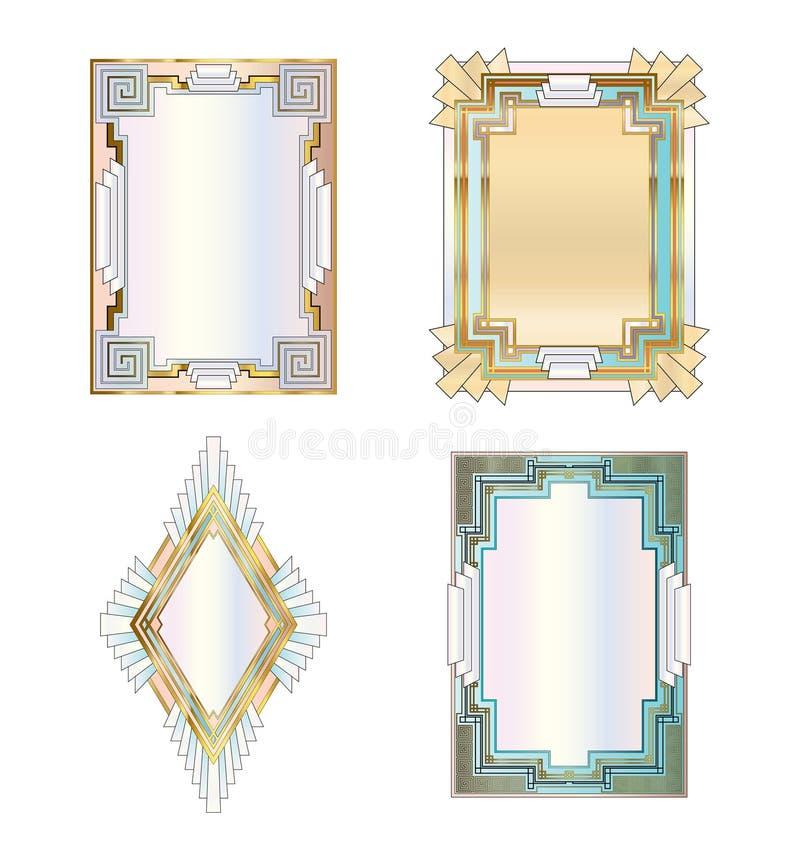 Download Art deco borders stock vector. Image of edge, fancy, gilt - 17614669