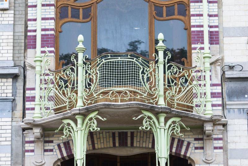 Art Deco in Brüssel stockfotos