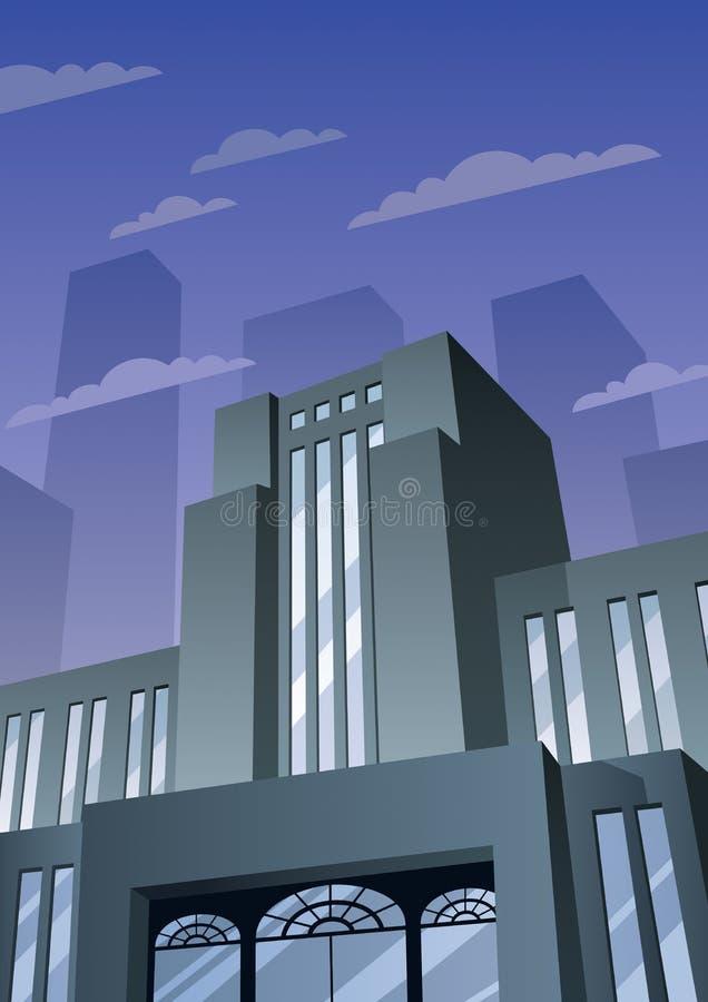 Art Deco Building 2 illustration stock