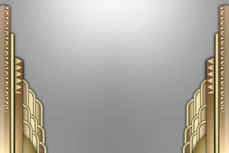 Art Deco building border royalty free illustration