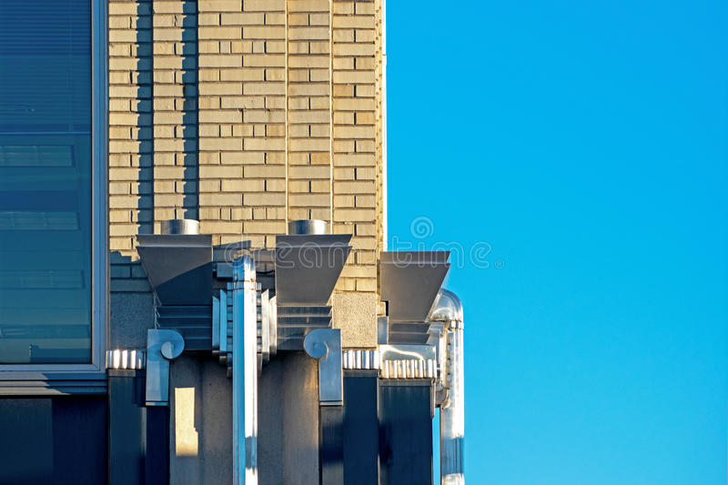 Art Deco Building Detail en acier photographie stock libre de droits