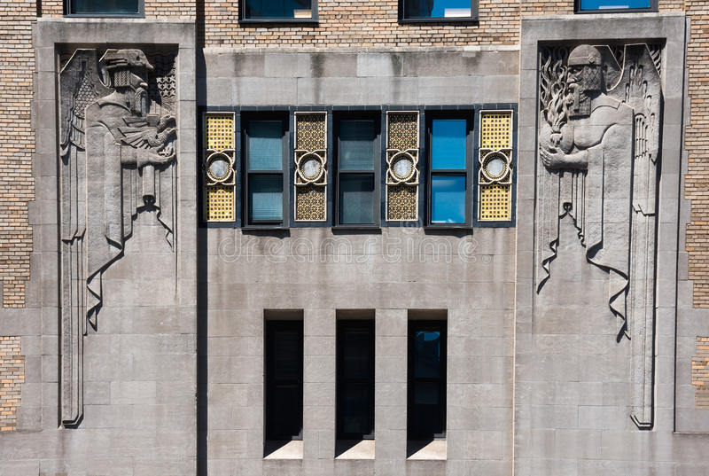 Art Deco Building Sculpture stock foto