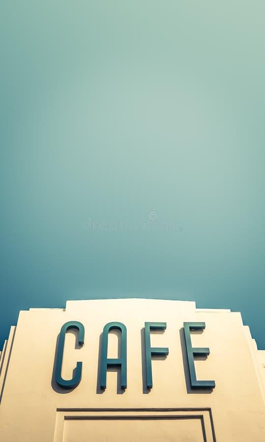 Art Deco Cafe stockbilder