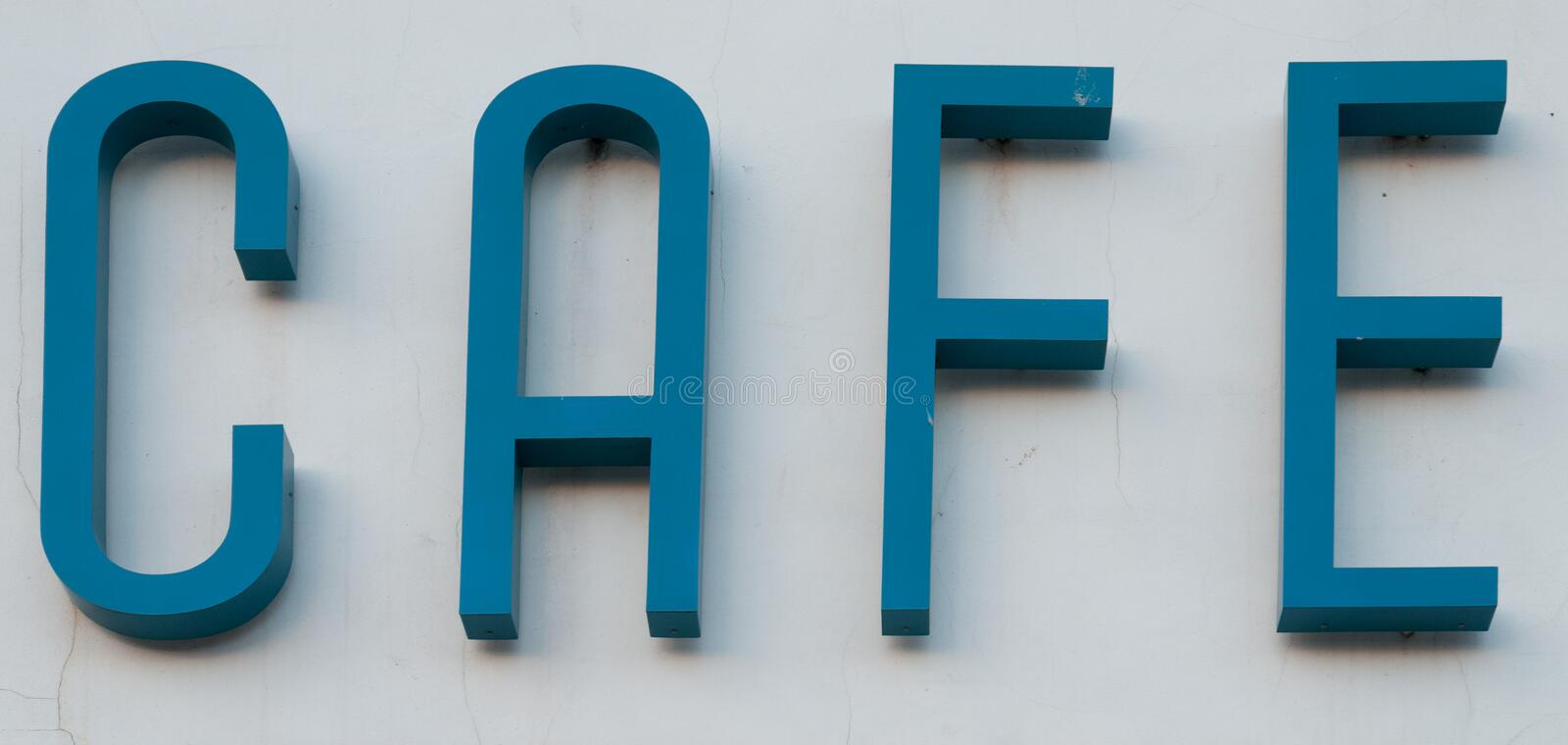 Art Deco Cafe Sign. An Art Deco Cafe Sign stock photos