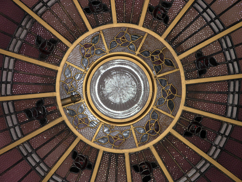 Art Deco Ceiling Dome stock image