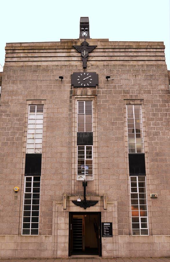 Art deco che costruisce, Aberdeen, Scozia del granito fotografie stock libere da diritti