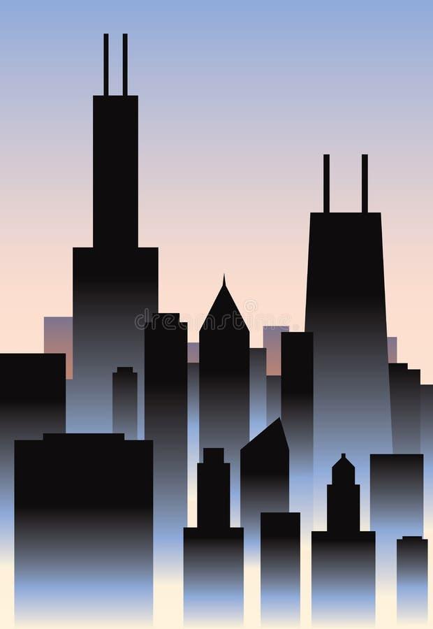 Art Deco Chicago illustration libre de droits