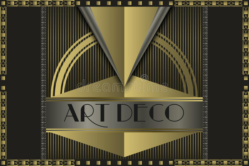 Art deco concept vector illustration