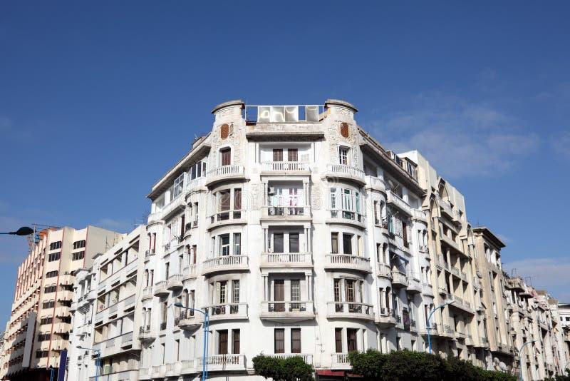 Art Deco-de bouw in Casablanca royalty-vrije stock foto