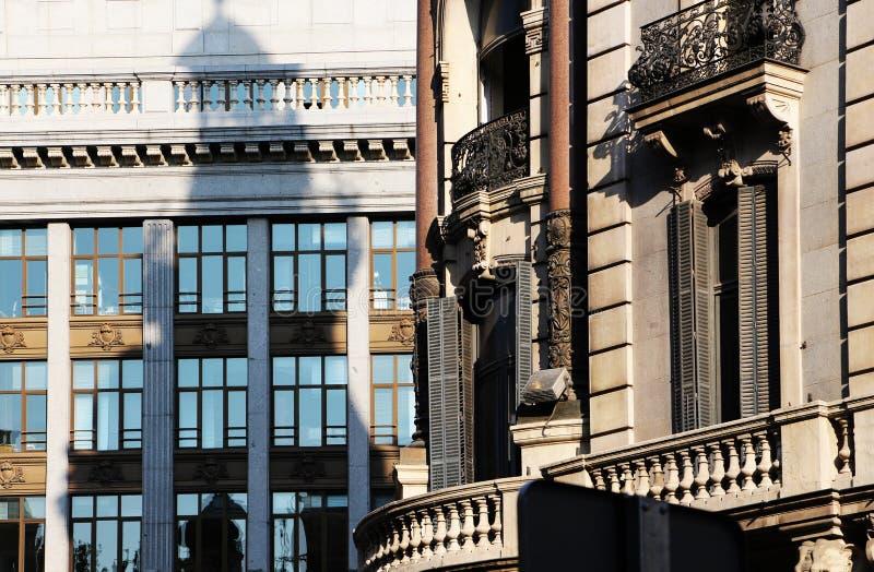 Art deco de bouw van Madrid, Spanje royalty-vrije stock foto