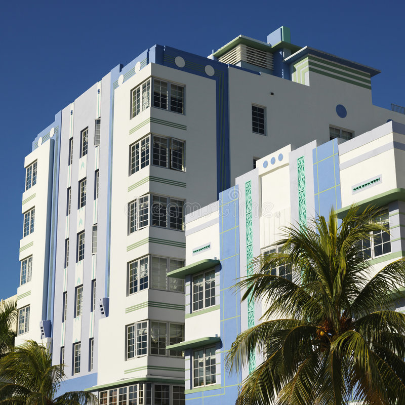 Art deco district of Miami stock photography