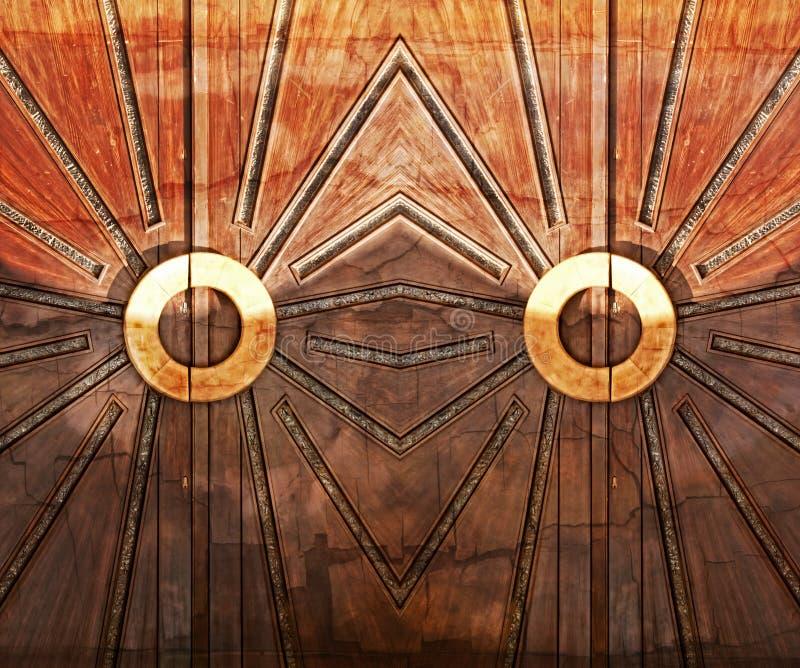 Art Deco Doors stock fotografie