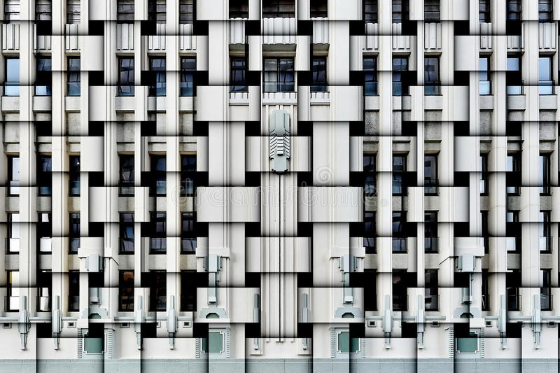 Art Deco facade. Abstract composition of an Art Deco building facade royalty free stock image